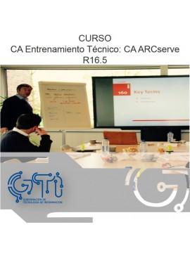 CA Entrenamiento Técnico: CA ARCserve R16.5