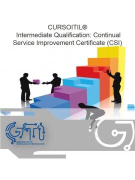 ITIL® Intermediate Qualification: Continual Service Improvement Certificate (CSI)